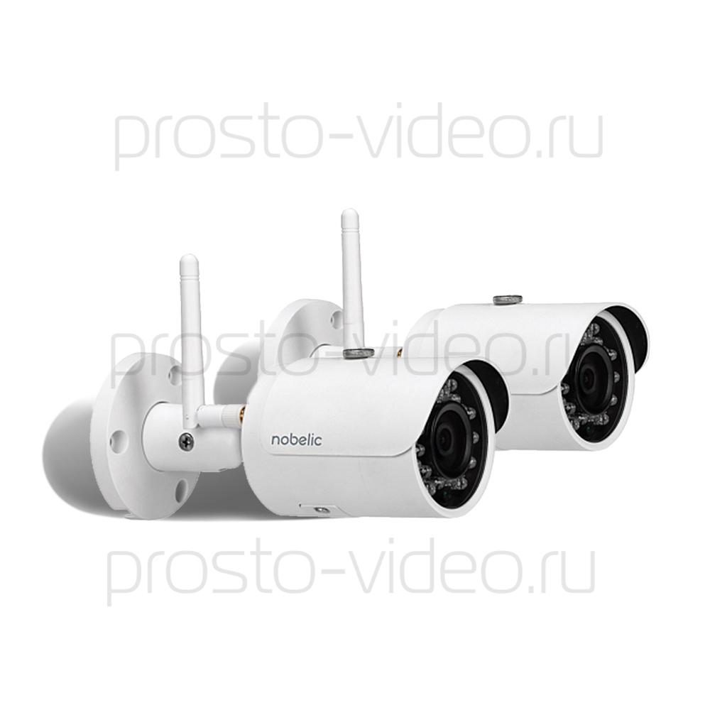 Готовый комплект видеонаблюдения из двух WiFi-камер Nobelic для улицы