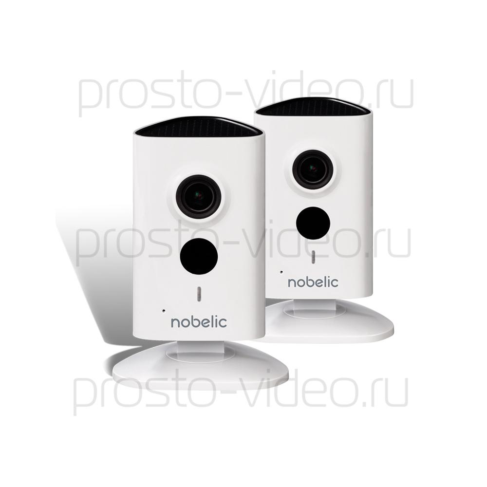 Готовый комплект видеонаблюдения из двух WiFi-камер Nobelic для помещений